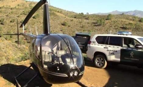 الحرس الإسباني يحجز طائرة هليكوبتر محملة بالمخدرات قادمة من المغرب
