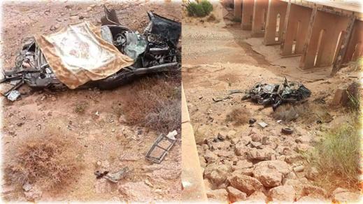 مصرع ثلاث شبان بطريقة مأساوية إثر سقوط سيارتهم من قنطرة