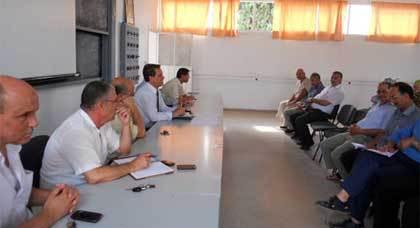 حضور النائب الإقليمي لاجتماعات عدة تنفيذا لمقتضيات مقرر تنظيم السنة الداسية