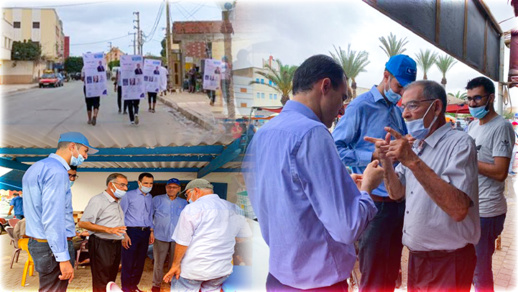 محمادي توحتوح يقود حملة انتخابية بجماعة قرية أركمان وسط ترحيب ودعم كبيرين من الساكنة
