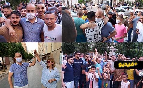 شاهدوا.. ساكنة حي لعري الشيخ تحتفل مع سليمان أزواغ بعد تحقيقه لنتائج إيجابية