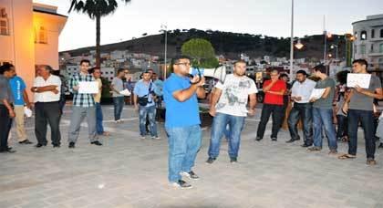 ممثلي المنابر الإعلامية بالريف يدعون إلى تقنين الصحافة الإلكترونية في وقفة إحتجاجية بالناظور