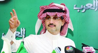 """الأمير الوليد بن طلال يطلق قناة """"العرب"""" الاخبارية التي ستنافس الجزيرة في هذا التاريخ"""