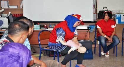الهلال الأحمر المغربي بالناظور ينظم دورة تدريبية في الإسعافات الأولية بزايو