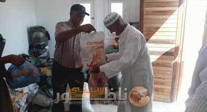 جمعية اولاد بو عبد السيد للتنمية المستدامة تشرف على توزيع ملابس و مواد غذائية على المحتاجي