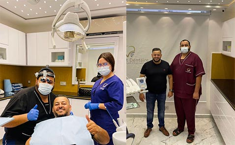"""بعد سنوات من البحث.. رجل الاعمال """"مالك سولار"""" يختار عيادة الدكتور شلالي لعلاج أسنانه"""
