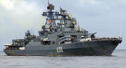 سفينة حربية روسية حاملة للصواريخ النووية ترسو قريبة من شواطئ الناظور والحسيمة