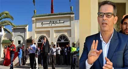 """وقفة تضامنية مع """"محمد العزاوي"""" على إثر الاستفزاز التي طاله أثناء عمله ببلدية زايو"""