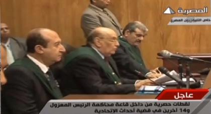 محمد مرسي امام المحكمة بزي مدني