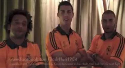 نجوم ريال مدريد يساندون البطل المغربي بدر هاري في نزاله المقبل