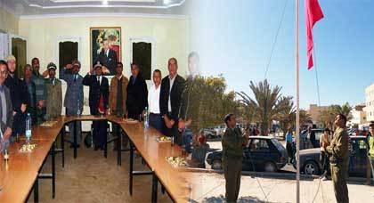 أركمان تحتفـل بذكرى المسيرة الخضراء والمنتخبين ورؤساء المصالح الخارجية في ورقة الغياب
