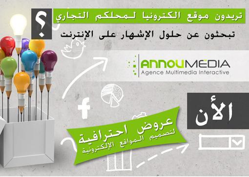 أنوميديا: أول شركة احترافية رائدة في تصميم المواقع الإلكترونية وإنتاج الأفلام الإشهارية بالناظور