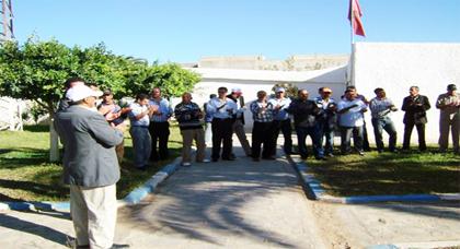 نشطاء الاتحاد المغربي للشغل بجماعة أركمان يحتجون لتحقيق المكتسبات بالجماعة