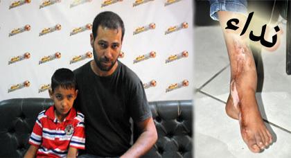 نداء إنساني لأب من إبن الطيب يناشد المحسنين لإجراء عملية جراحية لإبنه