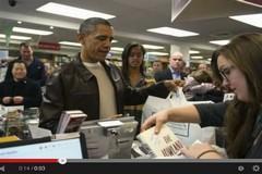 أوباما في مكتبة لاقتناء كتب