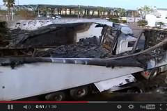 بالفيديو.. حريق بميناء الناظور