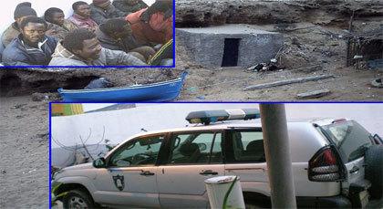 إحباط عملية تهجير أفارقة وضبط 29 من براميل البنزين بجماعة آيث شيشار