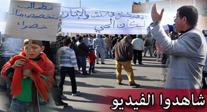 """سكان حي بُوعْرُورُو يطالبون برحيل عامل الناظور وكاتبه العام بعد أن """"نَكَثَا"""" بالعُهُود"""