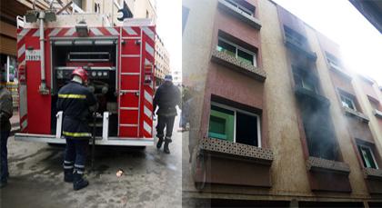 حريق مهول يتسبب في خسائر مادية مهمة بأحد المنازل ببني أنصار