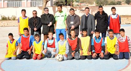 علال الفاسي 1 بزايو تنظم دوري في كرة القدم المصغرة مخصص لتلاميذ الداخلي للمؤسسة