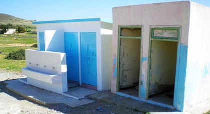 فضيحة نيابة الناظور..إنجاز مراحيض دون ماء بدوار هيذون