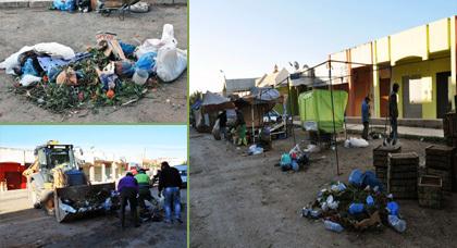 مصلحة النظافة بزايو تباشر حملة نظافة بشارع أثينا