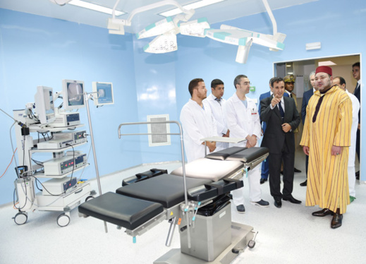 """الملك يدشن المركز الاستشفائي الجامعي """"محمد السادس"""" بوجدة"""