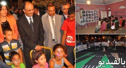 عامل الإقليم يتحرك نحو الكورنيش وساحة التحرير بالناظور للتحسيس بأهمية السلامة الطرقية