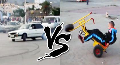 مواهب بكورنيش الناظور: دراجة هوائية في مواجهة سيارة