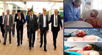القيشوحي والتنملالي ضمن وفد لحزب السنبلة يترأسه الوزير مبديع في زيارة لضحية الرصاص الجزائري