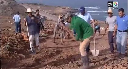 على القناة الثانية.. روبورطاج عن مبادرة إصلاح إحدى الطرق بإقليم الدرويش