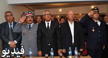باشا ورئيس مدينة زايو يترأسان مراسيم الاستماع للخطاب الملكي السامي بمناسبة  المسيرة الخضراء المضفرة