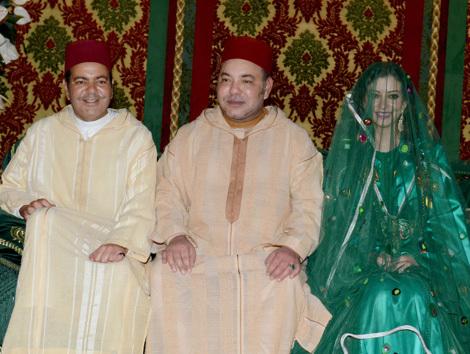 تهنئة السيد غرس الله محمد عبد الرحمان من زايو لجلالة الملك بمناسبة زفاف الامير مولاي رشيد