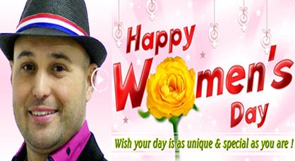"""الفنان """"ماسين"""" يهنئ نساء العالم في عيدهن الأممي"""