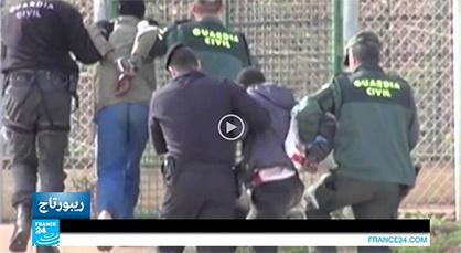 """قناة """"فرانس 24"""" تسلط الضوء على معاناة المهاجرين الأفارقة للعبور إلى مليلية"""