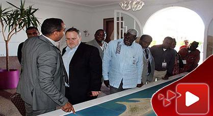 سفراء ودبلوماسيون في زيارة للإطلاع على مشروع إعادة هيكلة بحيرة مارتشيكا