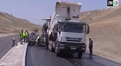 تقدم أشغال تقوية وتثنية الطريق السريع بين الحسيمة وتازة