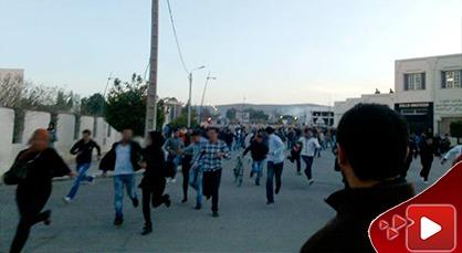 إصابات وجروح إثر إندلاع إشتباكات بين طلبة ريفيين وأبناء حي سكني بوجدة