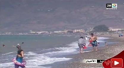 إكتضاض غير مسبوق بشواطئ الحسيمة خلال هذا الصيف القائظ
