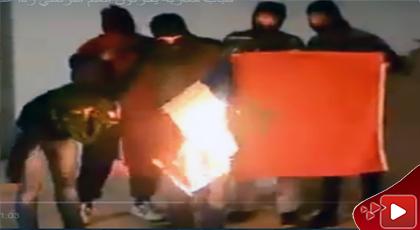 مثير.. شبان ناظوريون يحرقون العلم الفرنسي ردا على حرق علم المغرب