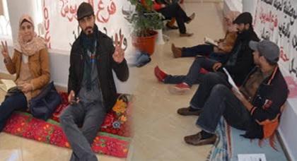 معطلو الدريوش يخوضون اعتصاما احتجاجيا جزئيا على هامش دورة المجلس البلدي