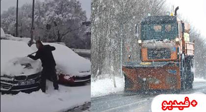 سقوط كمية كبيرة من الثلوج بألمانيا وريفي ينشر فيديو لسيارته غطاها الثلج كاملة