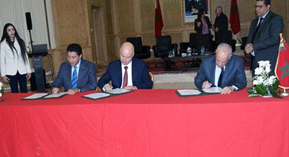 مجلس الجهة يوقع اتفاقية شراكة في مجال الهجرة واللجوء مع وزارة شؤون الهجرة وولاية الشرق