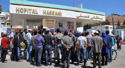 توقيف رواتب الحراس الخاصيين بالمستشفى الحسني ينذر بإحتقان والنقابة تحمل المسؤولية لصاحب الشركة