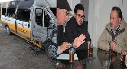 جمعية التضامن للثقافة والتنمية بتزغين تعوض سيارة النقل المدرسي التي تعرضت للاحتراق بجماعة تليليت