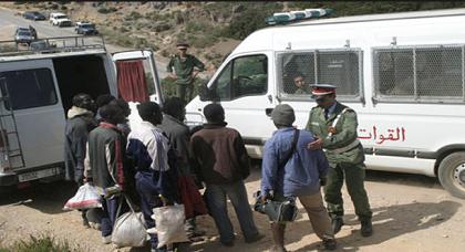 سلطات بني أنصار توقف تدفق عشرات المهاجرين الأفارقة إلى مليلية