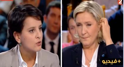إبنة بني شيكر نجاة بلقاسم في مواجهة ساخنة مع زعيمة اليمين المتطرف الفرنسي مارلين لوبان