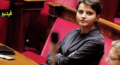 الوزيرة نجاة بلقاسم إبنة الناظور تدافع بشدة عن اللغة العربية في قبة البرلمان الفرنسي