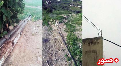 سقوط عمود كهربائي وسط حي سكني بجماعة وردانة وأسلاكه المكشوفة تهدد أرواح المواطنين
