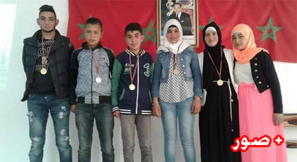 حفل تكريمي لتلاميذ ثانوية تزغين الاعدادية المشاركين في البطولة الاقليمية